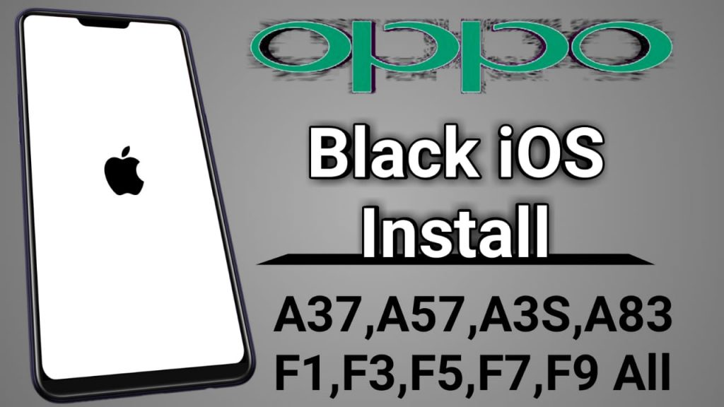 OPPO Black iOS Theme