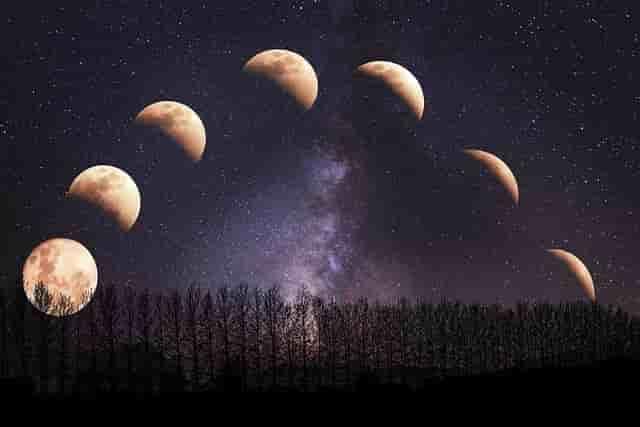 चन्द्रमा कैसे चमकता है